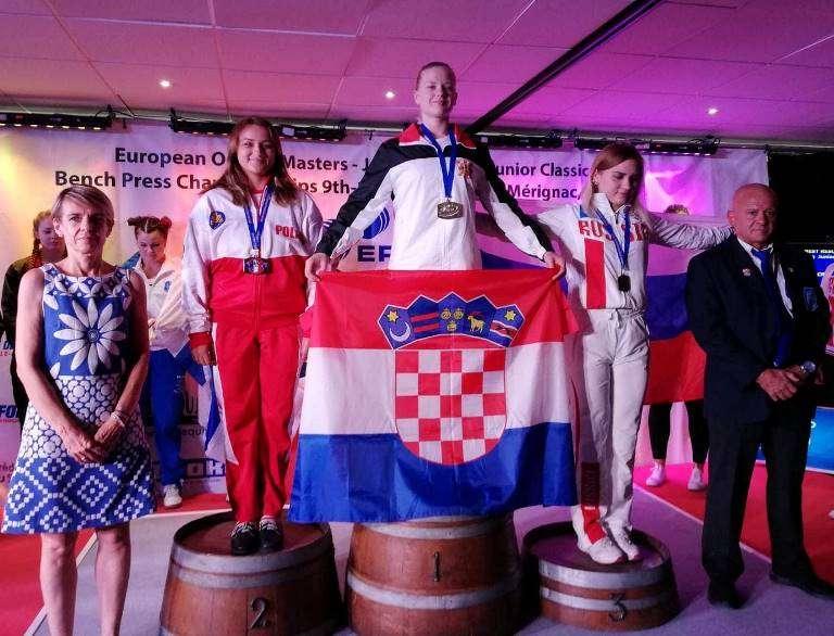 Andrea Petrek prvakinja Europe u bench pressu