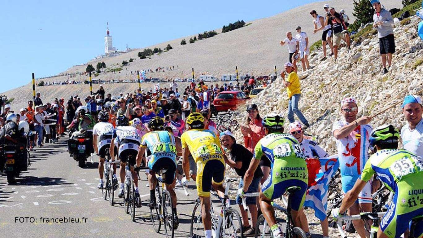 Biciklizam Mount Ventoux, prijenos
