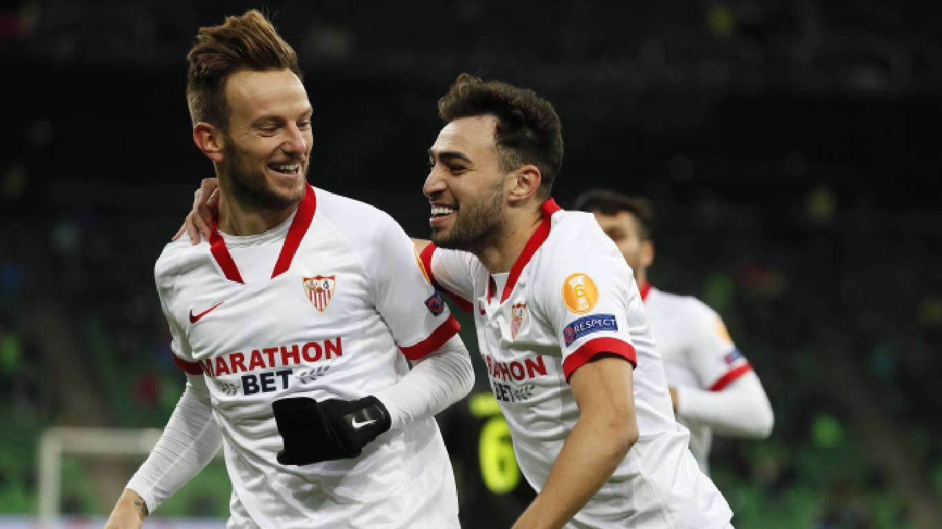 Rakitić strijelac, Sevilla u osmini finala